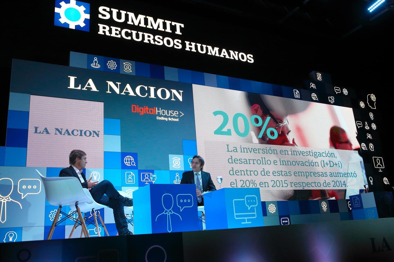 back escenario La Nación summit recursos humanos