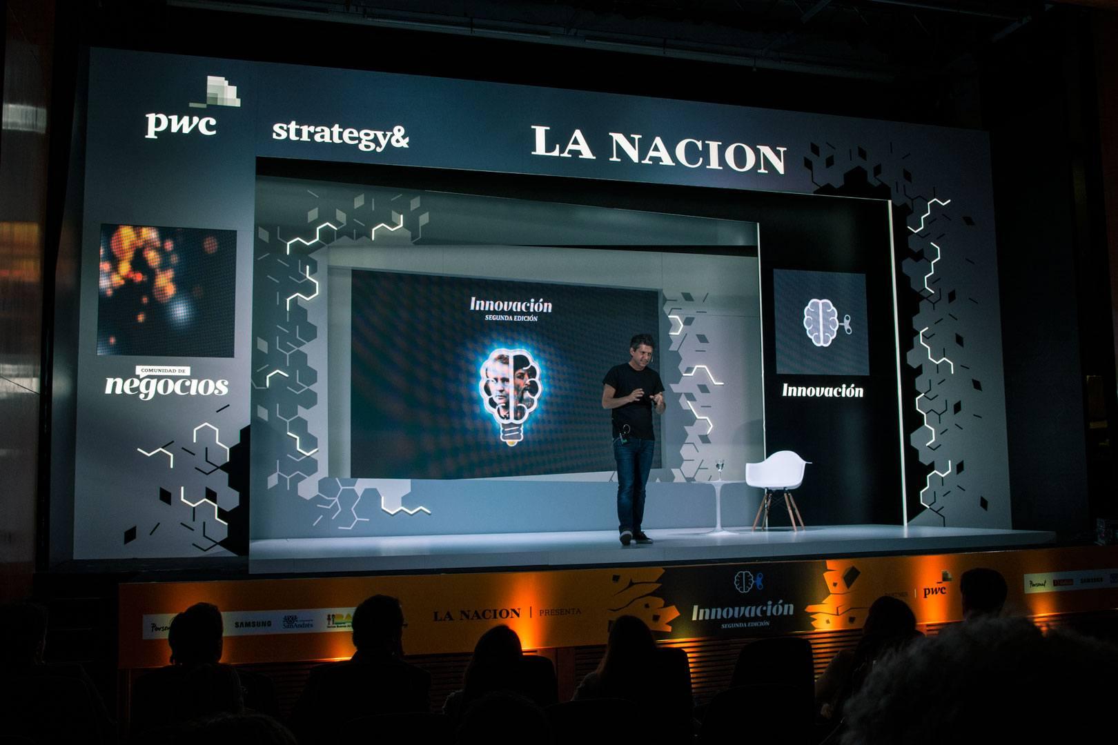 Escenografía evento La Nación Innovación